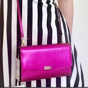 Kate Spade Winni Metallic Clutch Crossbody Bag,